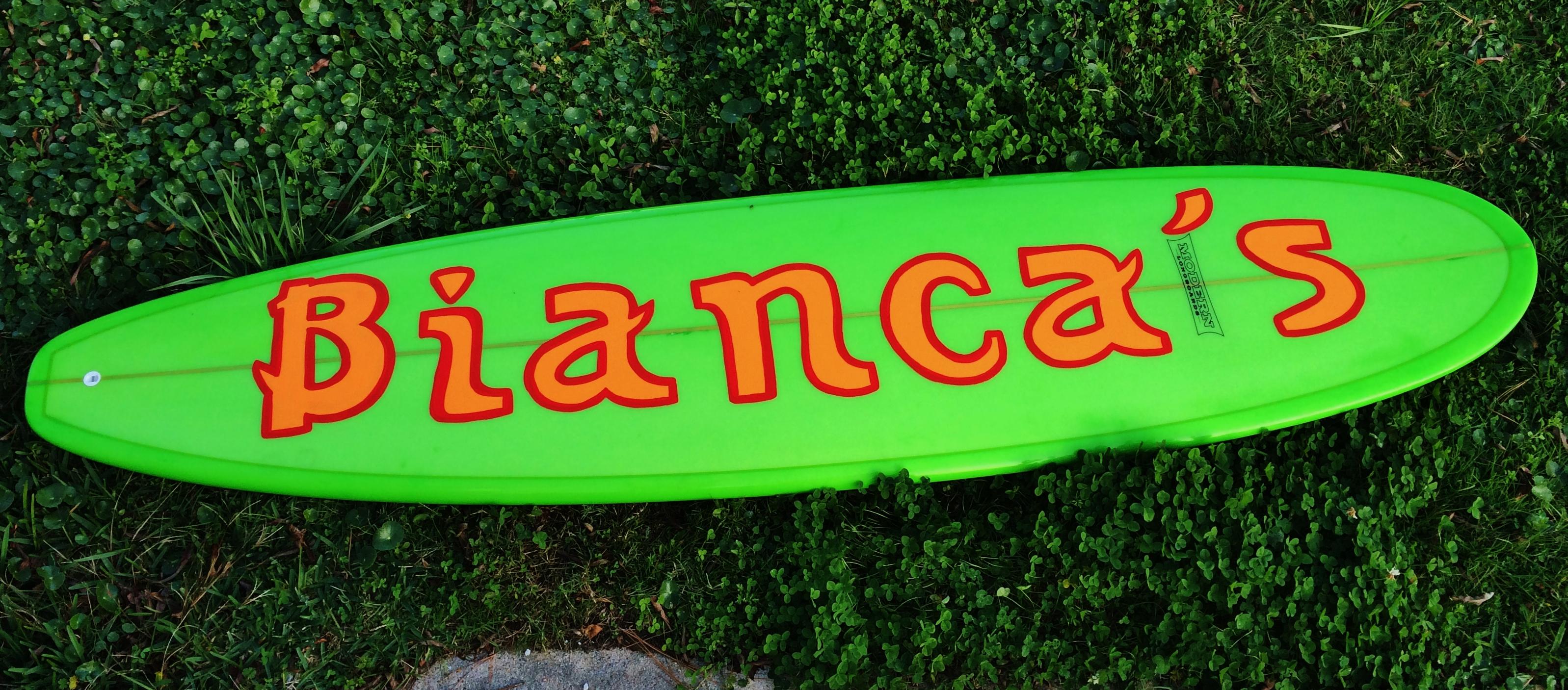 custom hand-painted surfboard