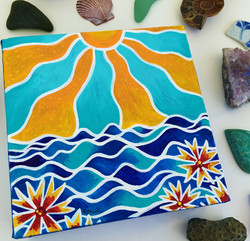 jo bells, sunshine & sea