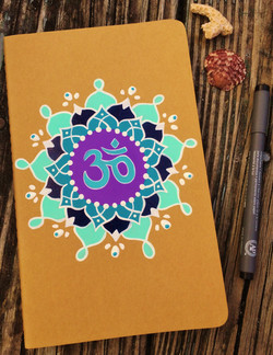 hand-painted notebooks