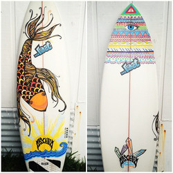 hand-painted surfboard