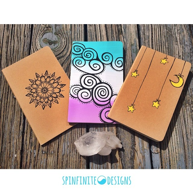 hand-painted moleskine notebooks
