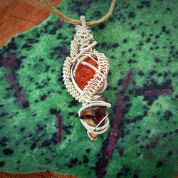 wire-wrapped pendant: