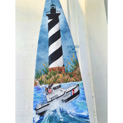 hand-painted paddle / oar