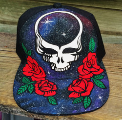 """""""steal your space"""" painted hat"""