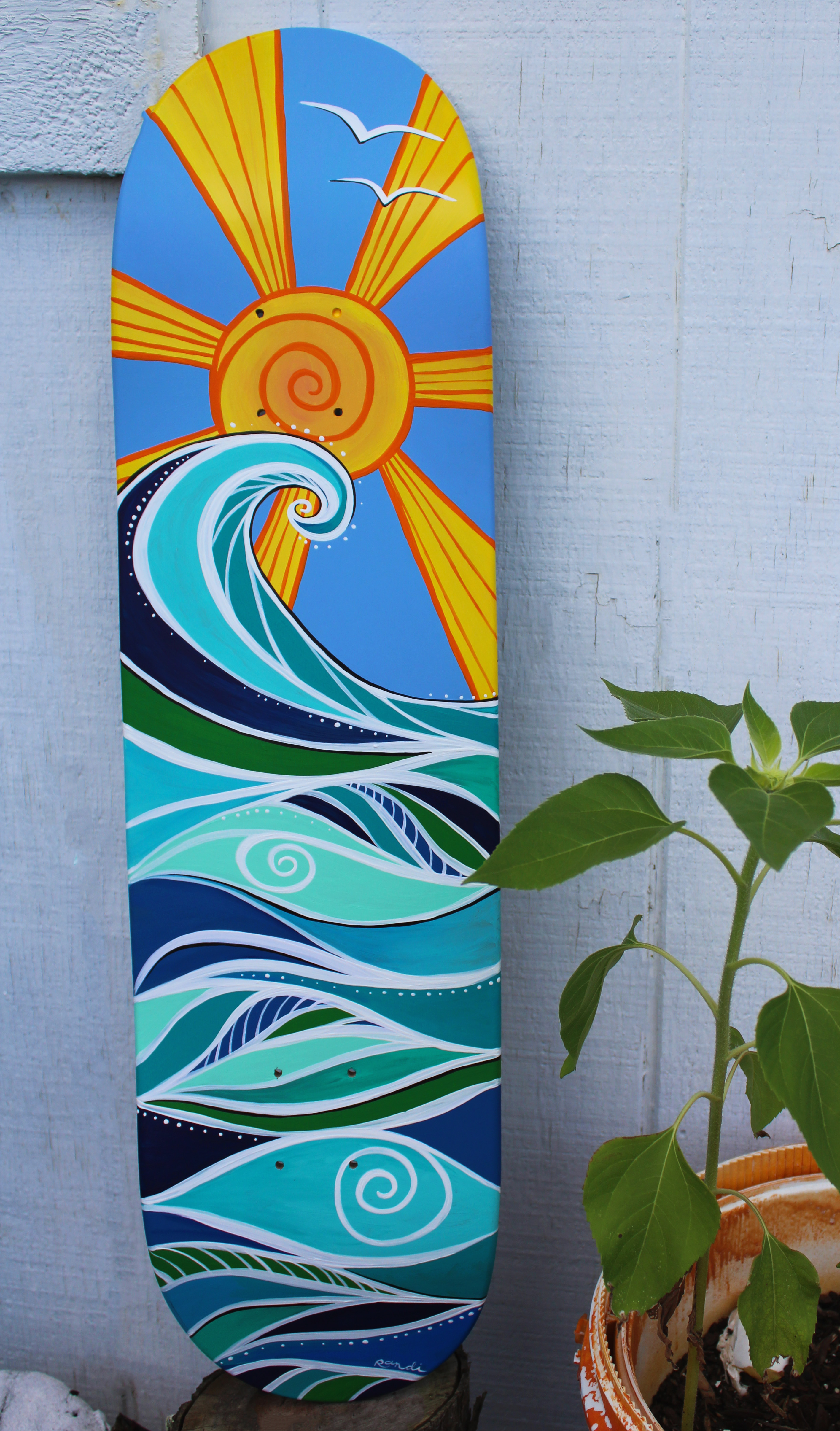 surf art skate deck