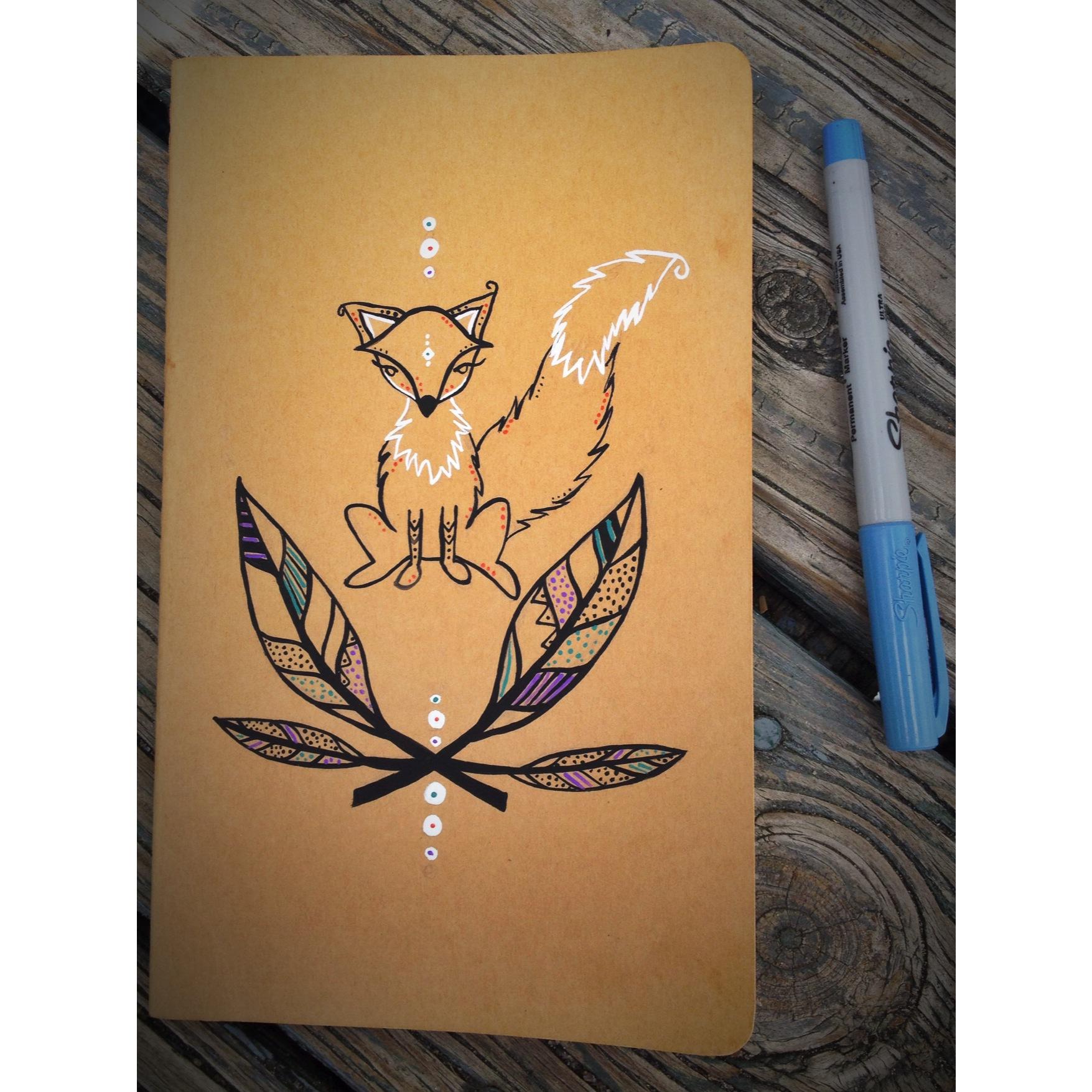 custom painted moleskine journal