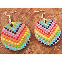 hand-painted earrings