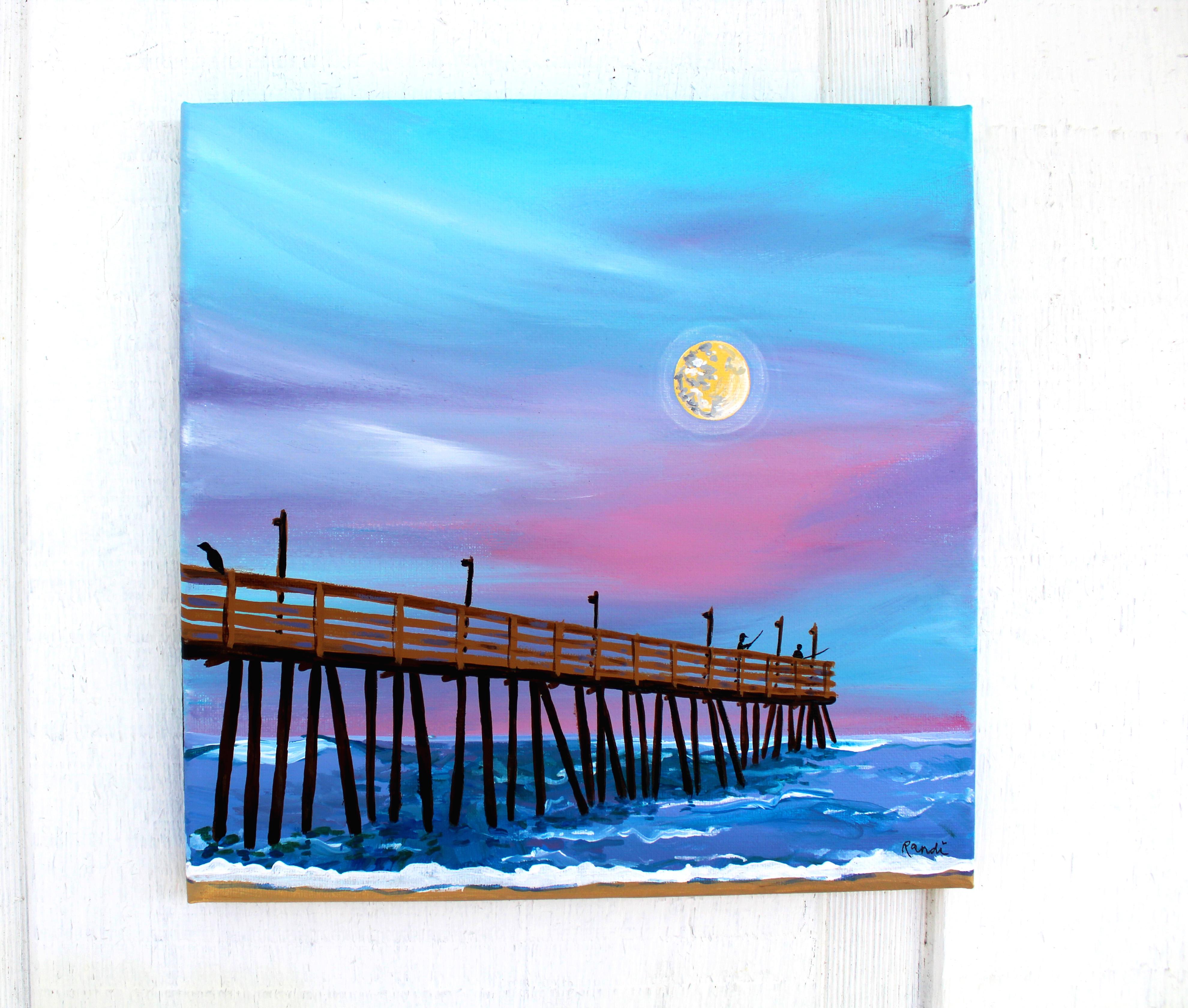 full moon over rodanthe pier