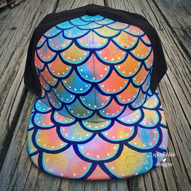 hand-painted snapback hat