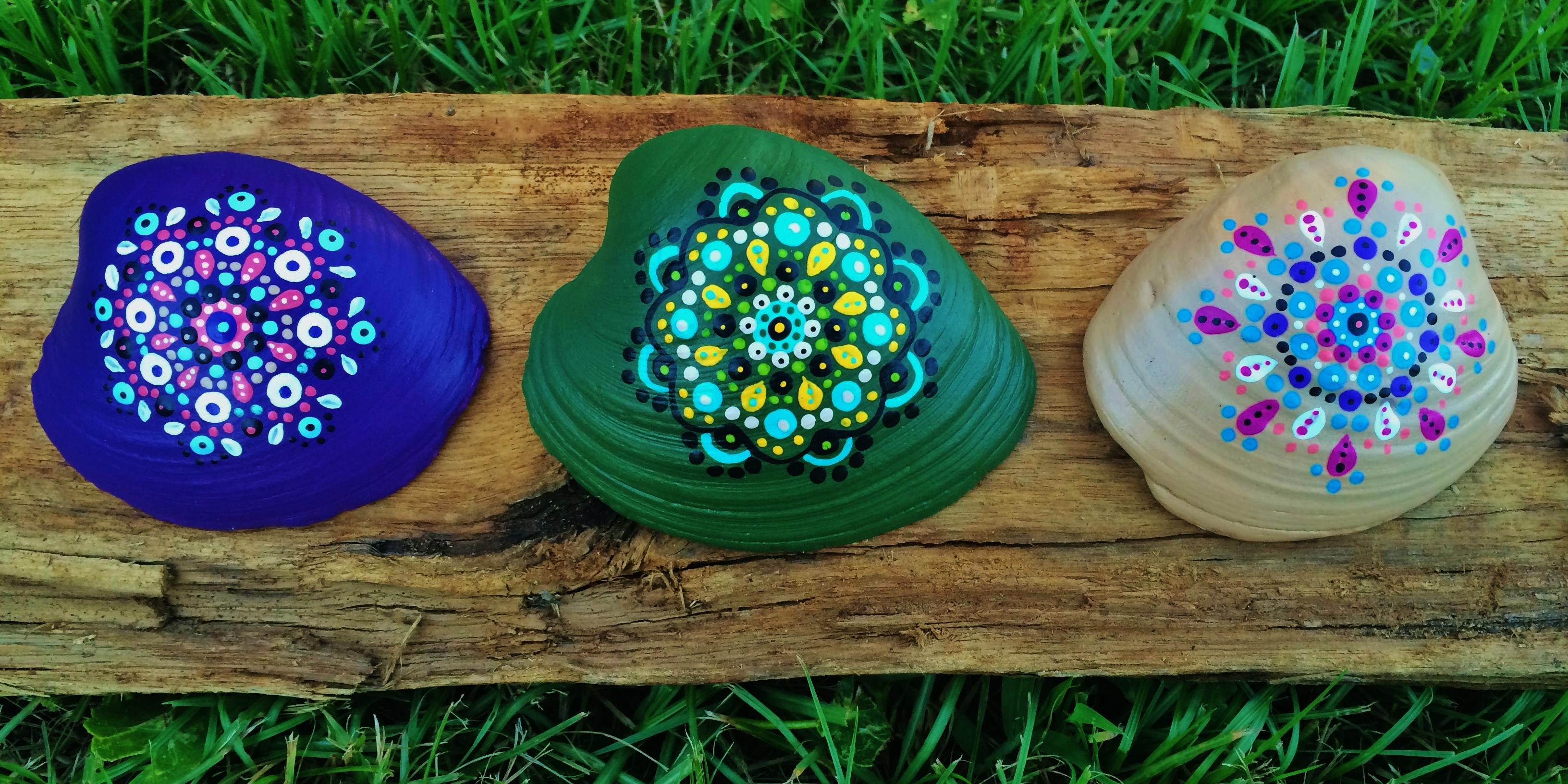 clam shell mandalas