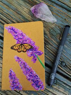 hand-painted moleskine notebook