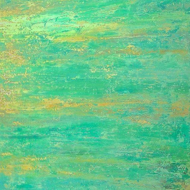 "Green Flash 36"" x 48 "" Acrylic/  Oil $2100"