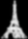 white eiffel logo