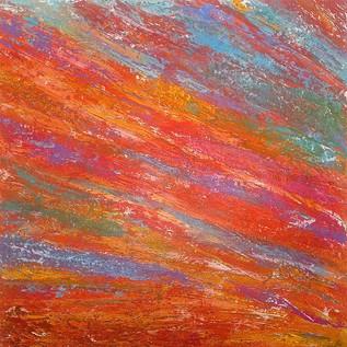 """Sun Splash 48"""" x 48"""" Acrylic/ Oil  $2800"""