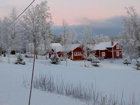 Jul i vinterlandskap