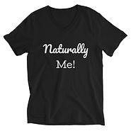 Unisex Black Naturally Me T-Shirt