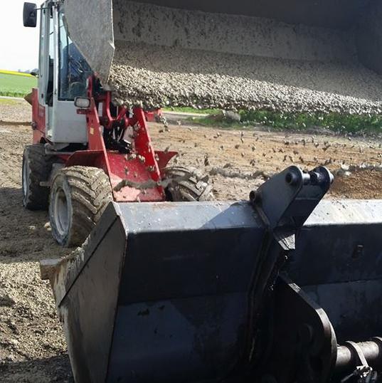 Støbning af stald
