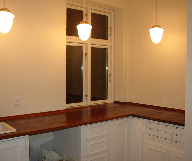 Landkøkkenet opbygges i samarbejde med Buchhaves Møbelmageri