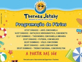Thermas Jatahy oferece programação especial nas férias de julho