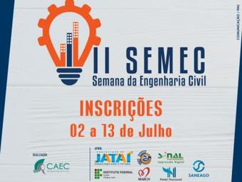 Inscrições abertas para a II Semana da Engenharia Civil