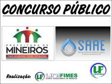 PREFEITURA DE MINEIROS LANÇA EDITAL PARA CONCURSO COM SALÁRIOS DE ATÉ R$ 9 MIL