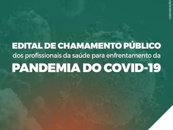 Chamamento público dos profissionais da saúde para enfrentamento da pandemia do COVID-19