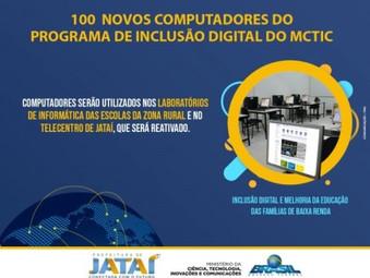 Prefeitura recebe 100 computadores do Programa de Inclusão Digital