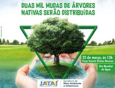 Duas mil mudas de árvores nativas serão distribuídas na Praça Tenente