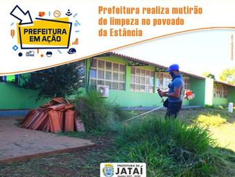 Prefeitura realiza mutirão de limpeza no povoado da Estância