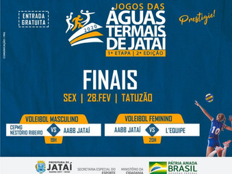 Finais do voleibol adulto feminino e masculino dos Jogos das Águas Termais de Jataí