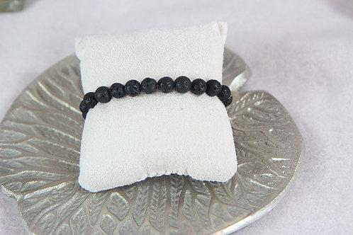 Bracelet Basalte (pierre de lave)