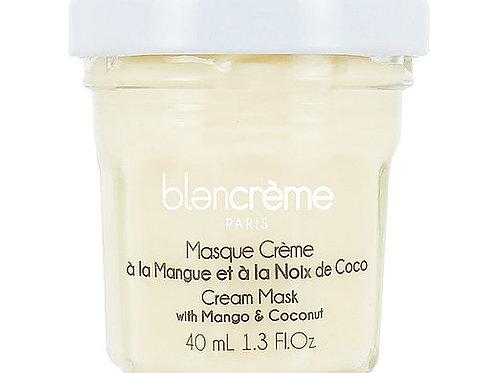 Masque visage crème mangue & noix de coco