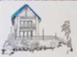house portrait commission _#edinburghart