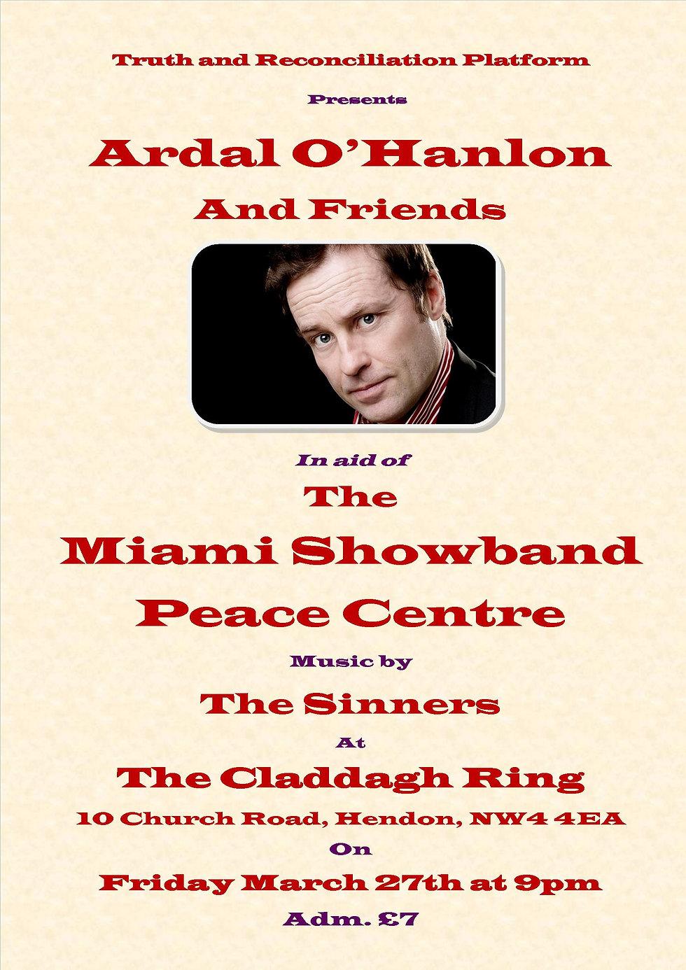 The Miami Showband Claddagh Fundraiser A