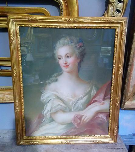 Redorure d'un Cadre Louis XV