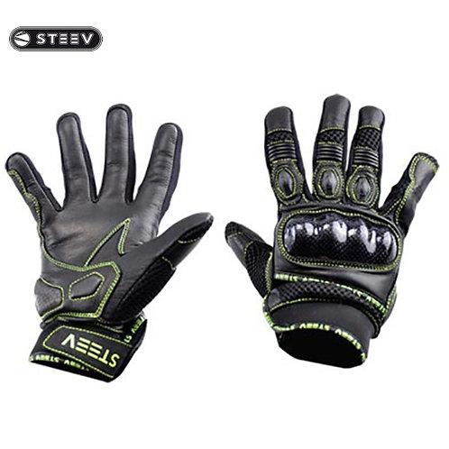 Gants de protection STEEV ETE Noir/Jaune Fluo T11 XL