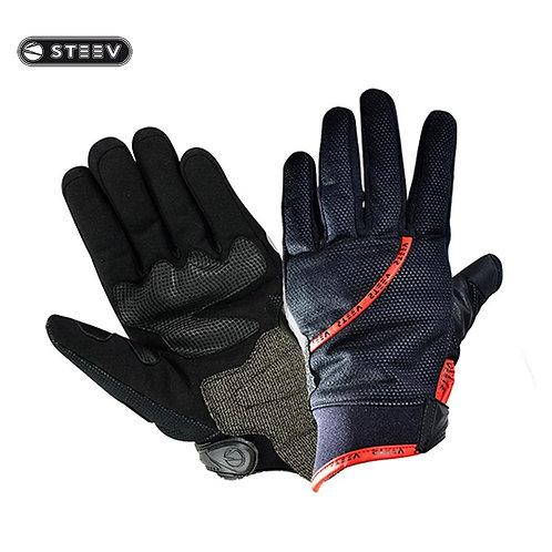 Gants de protection STEEV HIVER Noir/Rouge T11- XL