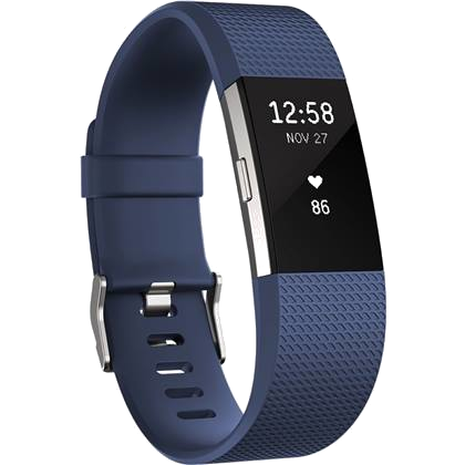 Fitbit Charge 2 L (blau silber)