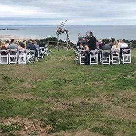 Outside wedding on East Coast
