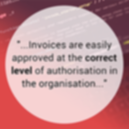 Invoices are easily approved at the corr