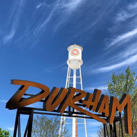 Durham Lucky Strike water tower