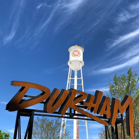 Durham Lucky Strike water tower