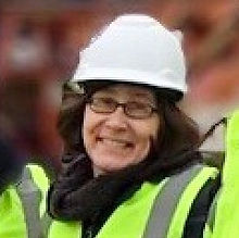 Christine in hardhat