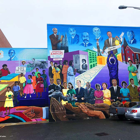 Colorful murals in Durham