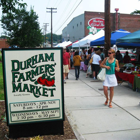 Durham Farmer's Market in Central Park
