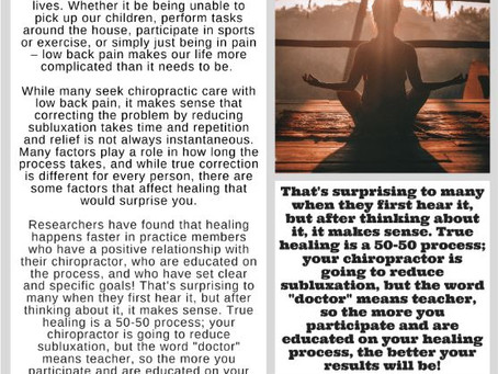 Healing is a 50-50 Process
