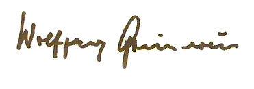 Unterschrift Professor Wolfgang Gönnenwein