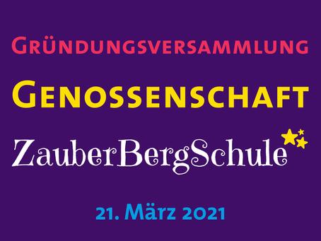 Gründung der Genossenschaft ZauberBergSchule eG iG