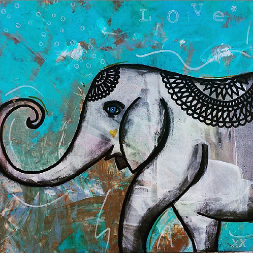 "Greeting Card of ""Lucky Elephant"""