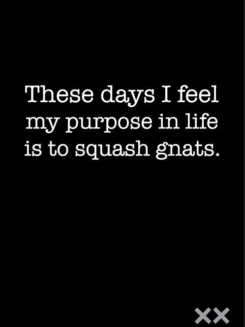 These Days I Feel My Purpose in Life is to Squash Gnats